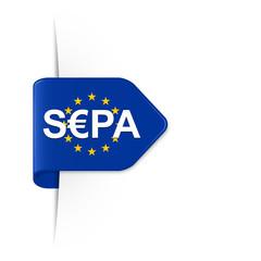 S€PA, SEPA - EU Sticker Pfeil mit Schatten