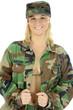 Soldat in Armee-Uniform