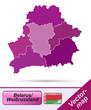 Grenzkarte von Weißrussland mit Grenzen in Violett