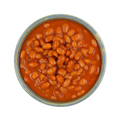 Pinto Beans Hot Chili Sauce  Bowl Top