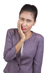 Woman have a toothache