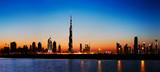 Dubai skyline at dusk seen from the Gulf Coast - Fine Art prints