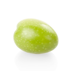 Olive isolated on white, clipping path included