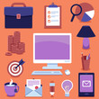 Vector freelance business icons and signs