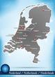 Inselkarte von Niederlande Abstrakter Hintergrund in Blau