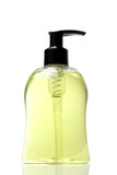 Plastic Liquid soap bottle on White background