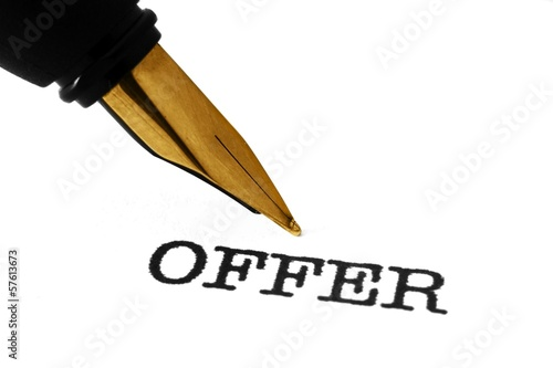 Fountain pen and offer text
