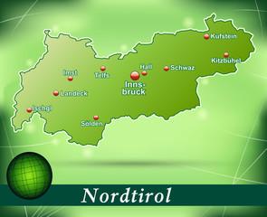Inselkarte von tirol Abstrakter Hintergrund in Grün