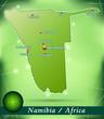 Inselkarte von Namibia Abstrakter Hintergrund in Grün