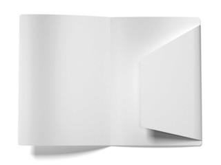 White empty open folder