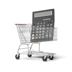 calculator and shopping cart
