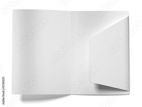 White empty open folder