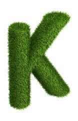 Natural grass letter K
