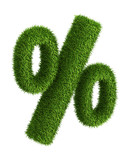 Natural grass percent sign