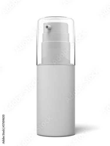 White cosmetics container