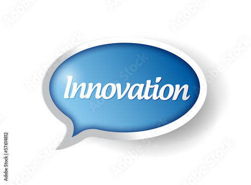 innovation message bubble illustration design