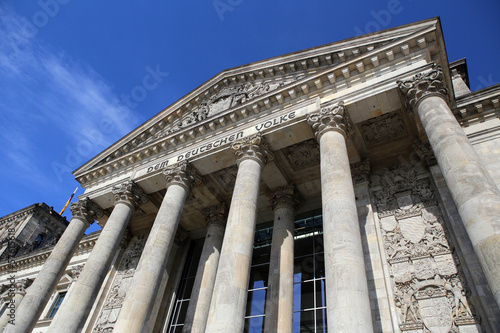 Berlin, Germany. Facade of the Bundestag