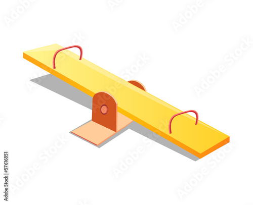 Seesaw isolated illustration