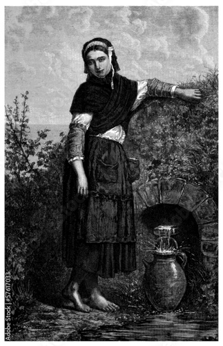 Woman : Traditional Peasant - 19th century