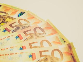 Euro note retro looking