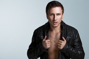 Handsome man in jacket