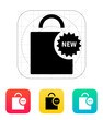 New shopping bag icon.