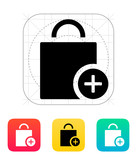Handbag add goods icon.