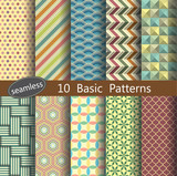basic pattern's unit collection for making seamless wallpapers