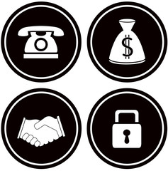 set black icons - business objects for banking