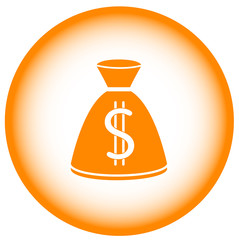 gold money bag - banking symbol.
