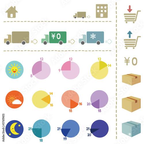 宅配便アイコンセット / delivery icon set
