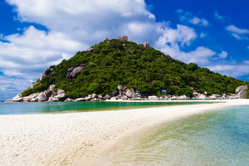 Beautiful tropical beach. Koh Phangan island, Kingdom of Thailan