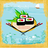 menu for sushi - Template Design