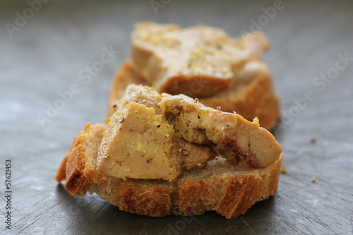 canvas print picture Toasts de foie gras