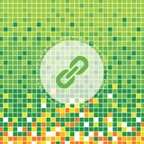 hyperlink symbol on green moses poster