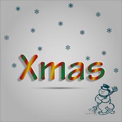 Christmas gray background stock vector