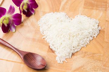 Rice Shape Heart