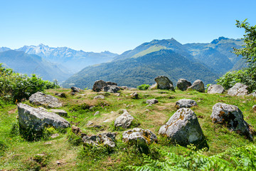 Prehistoric Cromlech in the French Pyrenees