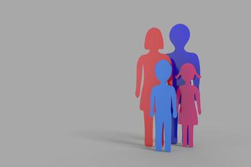 Die Familie - Blau Rot