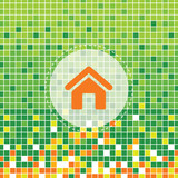 home icon on green moses poster