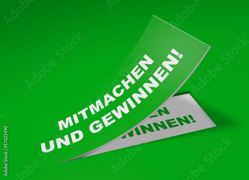 3D Etikett Grün - Mitmachen und gewinnen!
