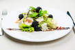 Wild blackberry and fresh goat cheese salad