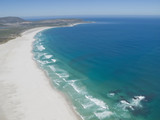 Aerial view of Noordhoek Beach, Cape Town, South Africa