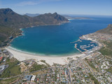 Aerial view of Hout Bay, Cape Town, South Africa