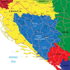Bosnia & Herzegovina map