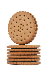 Round biscuits stack