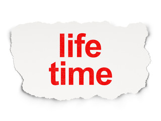 Time concept: Life Time on Paper background
