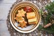 Panierter Tofu und Kroketten