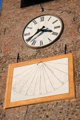Clock with sundial