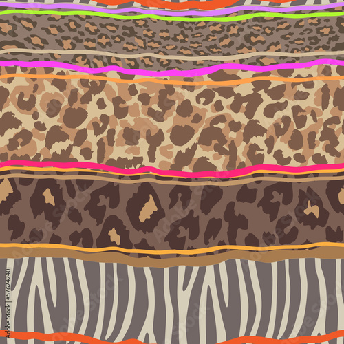 animal mix ~ seamless background